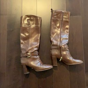 Authentic Tory Burch Block boot heel size8
